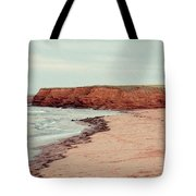 Soft Rain On The Beach Tote Bag by Edward Fielding