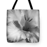 Soft Silver Gladiola Flower  Tote Bag
