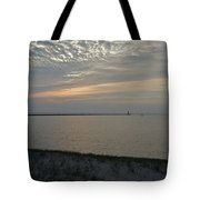 Soft Silver Sunset Tote Bag