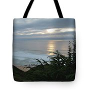 Soft Silvery Pacific Sunset Tote Bag
