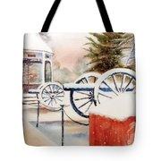 Softly Christmas Snow Tote Bag by Kip DeVore