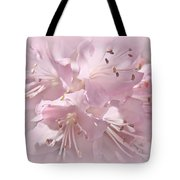 Softness Of Pink Pastel Azalea Flowers Tote Bag