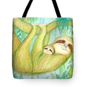 Soggy Mossy Sloth Tote Bag