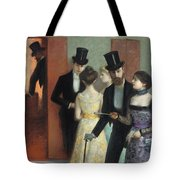 Soiree At The Opera Tote Bag by Ernest Rouart
