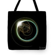Solar Eclipse With Fractal Tote Bag