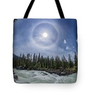 Solar Halo Over Natural Bridge, Yoho V1 Tote Bag