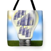 Solar Power Lightbulb Tote Bag