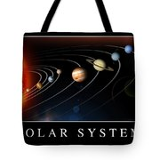 Solar System Poster Tote Bag by Stocktrek Images