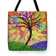 Solar Tree Tote Bag