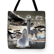 Solarized Infrared City Park Tote Bag