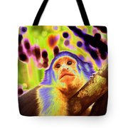 Solarized White-faced Monkey Tote Bag