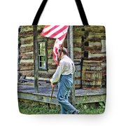 Soldier At Bedford Village Pa Tote Bag