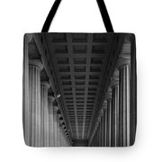 Soldier Field Colonnade Chicago B W B W Tote Bag