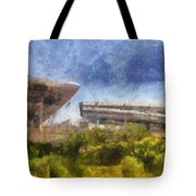 Soldier Field West Side Photo Art 02 Tote Bag