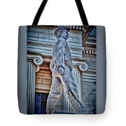 Soldier Statue Hdr Alabama State Capitol Tote Bag