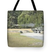 Soldiers Fire A Tow Missile Tote Bag