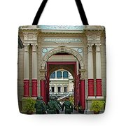 Soldiers In The Outer Court Of Grand Palace Of Thailand In Bangkok Tote Bag