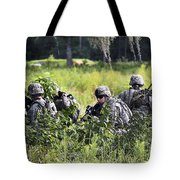 Soldiers Maintain Security At Fort Tote Bag