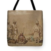 Soldiers Relaxing, 1844 Wc & Gouache On Paper Tote Bag