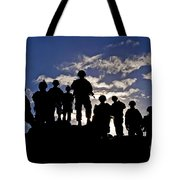 Soldiers Watch Troop Movements At Fort Tote Bag