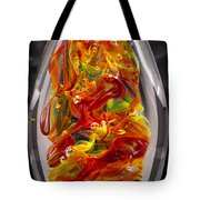 Solid Glass Sculpture - 13e8 - Extreme Flames Tote Bag