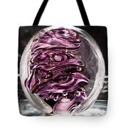 Solid Glass Sculpture Rp5 - Purple And White Tote Bag