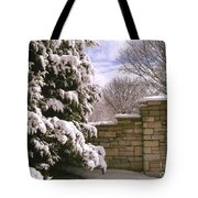 Solid Winter Tote Bag