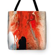 Solitary Man - Red And Black Abstract Art Tote Bag