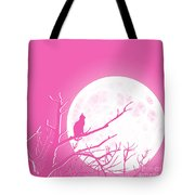 Solitary Pink Background Tote Bag