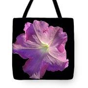 Solitary Pink Petunia Tote Bag