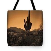 Solitary Saguaro Tote Bag