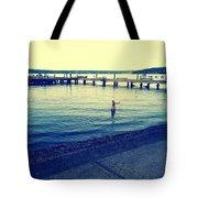 Solitary Swimming  Tote Bag