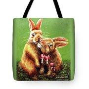 Some Bunny Loves You Tote Bag by Linda Simon