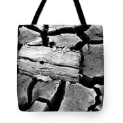 Some More Wood Black And White Tote Bag