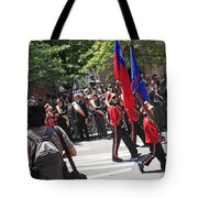 Some Young Flag Bearers Marching In The St. Patrick Old Cathedral Parade Tote Bag