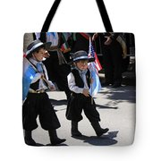 Some Young Italian Boys Marching In The St. Patrick Old Cathedral Parade Tote Bag
