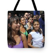 Some Young Ladies Enjoying The 2009 Cleansing Of 46th Street Tote Bag