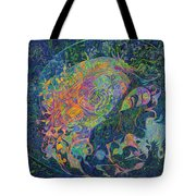 Someone's Footprint On The Universe's Face Tote Bag