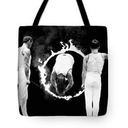 Somersault Through Flames Tote Bag