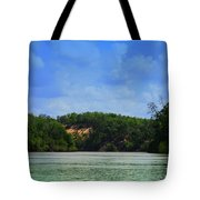 Somewhere On The River Tote Bag