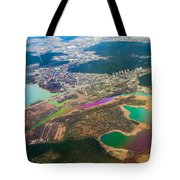 Somewhere Over Latvia. Rainbow Earth Tote Bag