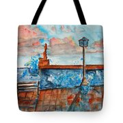 Somplace In Greece Tote Bag