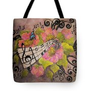 Song Of My Heart And Soul Tote Bag by Meldra Driscoll