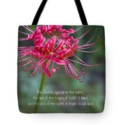 Song Of Solomon - The Flowers Appear Tote Bag
