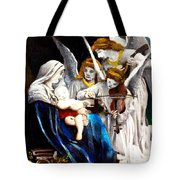 Song Of The Angels By Bouguereau Tote Bag