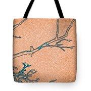 Songbird Peach Tote Bag
