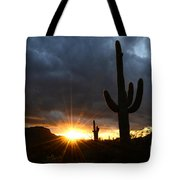 Sonoran Desert Rays Of Hope Tote Bag by Bob Christopher