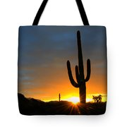 Sonoran Desert Sunrise 4 Tote Bag