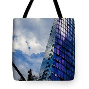 Sony Center In Downtown Berlin Tote Bag
