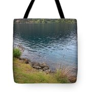 Soothing Lake Crescent Tote Bag
